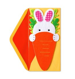 Papyrus Greetings Easter Card Easter Bunny and Carrot by Papyrus