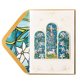 Papyrus Greetings Easter Card Lamb and Cross Stained Glass by Papyrus