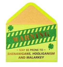 Papyrus Greetings St Patricks Day Card Shenanigan Warning by Papyrus