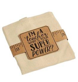 Mud Pie Canvas Teacher Tote w Im A Teacher Whats Your Super Power