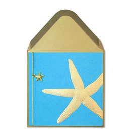 Papyrus Greetings Blank Card Gold Starfish by Papyrus