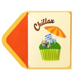 Papyrus Greetings Birthday Card Chillax Lawn Chair Cupcake by Papyrus