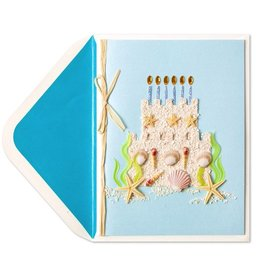 Papyrus Greetings Birthday Card Sandcastle Cake