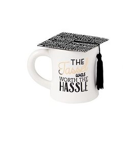 Mud Pie Graduation Cap Coffee Mug w Tassel Was Worth the Hassle