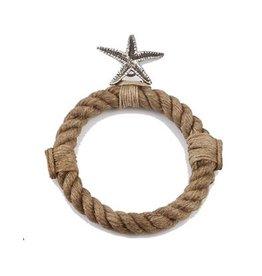 Mud Pie Sea Rope Towel Ring Star Fish 4711014SF by Mud Pie Gifts
