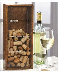 Mud Pie Wine Cork Holder w Beginner to Expert Lines 4815003 Mud Pie Gifts