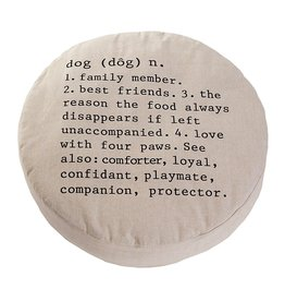 Mud Pie Small Dog Round Dog Bed 28D inch w Dog Definition by Mud Pie Gifts