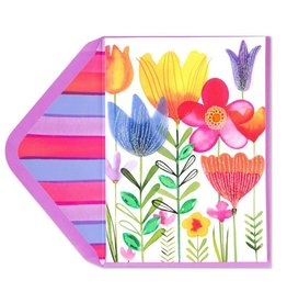 Papyrus Greetings Easter Card Growing Spring Flowers by Papyrus