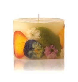 Rosy Rings Orange Blossom Honey Botanical Candle Petite Oval 4x3x3H