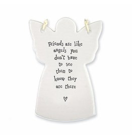 East of India Porcelain Angel Ornament E4049 Friends Are Like Angels