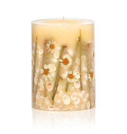 Rosy Rings Botanical Candle Pillar Beach Daisy 5H Round