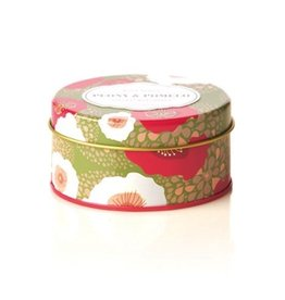 Rosy Rings Soy Candle Travel Tin 2.75oz Peony and Pomelo