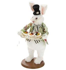 Mark Roberts Fairies Bunnies Butler Bunny With Tray 20 inch 51-71920-GR