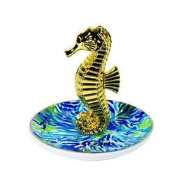 Lilly Pulitzer® Ring Holder Dish w Sea Horse Wade n Sea Lilly Pulitzer