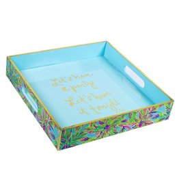 Lilly Pulitzer® Square Lacquer Tray Island Time 11.5in Lilly Pulitzer