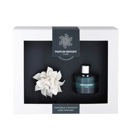 Parfum Berger Ceramic Diffuser Gift Set Mini Island Flower w Ocean Breeze