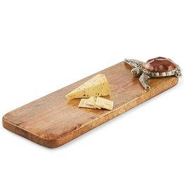 Mud Pie Sea Turtle Mango Wood Board 4751014 by Mud Pie