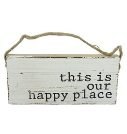 Mud Pie Beach Sign Door Hanger w This is Our Happy Place