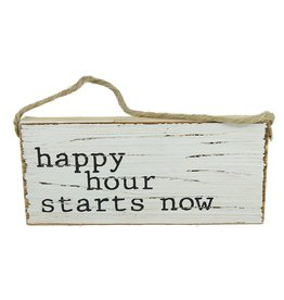 Mud Pie Beach Sign Door Hanger w Happy Hour Starts Now