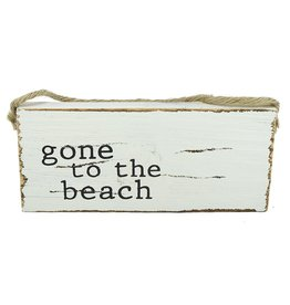 Mud Pie Beach Sign Door Hanger w Gone to the Beach