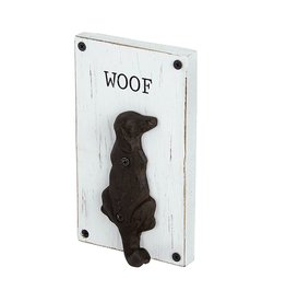 Mud Pie Dog Leash Hanger Hook w Woof by Pet Items Mud Pie Gifts