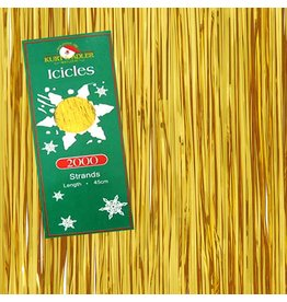 Kurt Adler Gold Tinsel Icicle Garland Strands 18 inch 2000 Strands