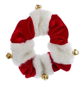 Kurt Adler Christmas Dog Collar Red White w Bells C4616-LG Large