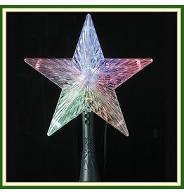 Kurt Adler Christmas Star Tree Topper w UL LED Color Changing 8.5H