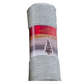 Kurt Adler Decorative Net Fabric Mesh 9ft x 31.5in Silver PL0799-C