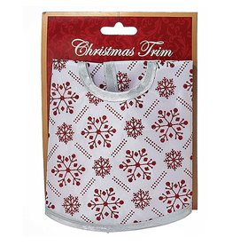 Kurt Adler Christmas Tree Skirt Miniature 12D inches Red and White H9557-WH