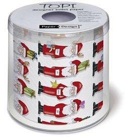 Topi Toilet Paper Christmas Toilet Paper Santa TOPI Designer Toilet Paper