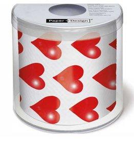 Topi Toilet Paper Hearts Toilet Paper TOPI Designer Toilet Paper Roll