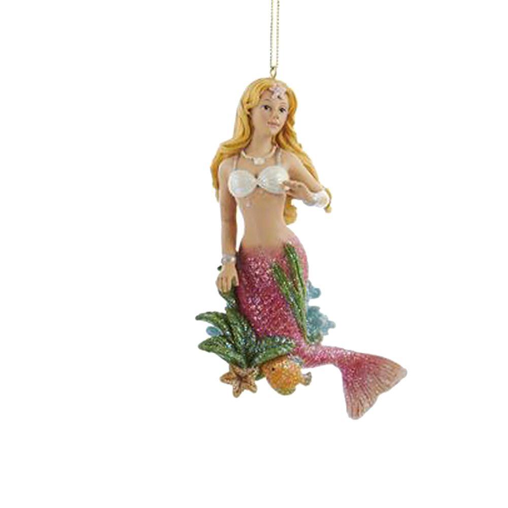 Mermaid Christmas Ornament C8738-B Pink - Digs N Gifts