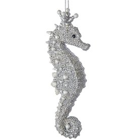 Kurt Adler Seahorse Silver with Pearls Ornament C7917-A
