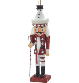 Kurt Adler Christmas Nutcracker Ornament w Snowman Hat Black 6H