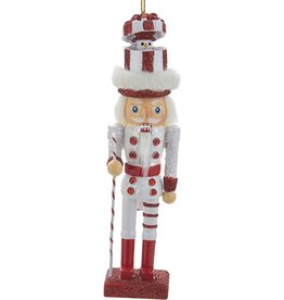 Kurt Adler Christmas Nutcracker Ornament w Snowman Hat Red 6H