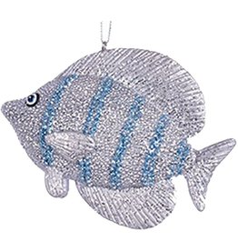 Kurt Adler Tropical Fish Christmas Ornament Silver Blue C7981-B