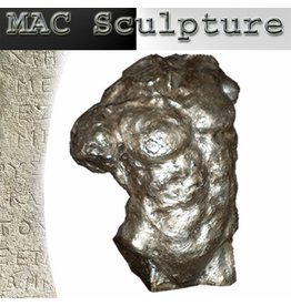 Mac Sculpture Himeros Silver Male Torso Figure Decorative Sculpture