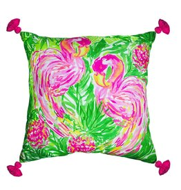 Lilly Pulitzer® Pillow X-Large 24x24 inch Flamingo Lilly Pulitzer