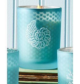 Twos Company Seaside Glass Votive Candle w Nautilus
