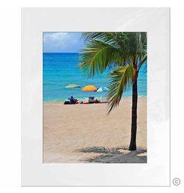 Maureen Terrien Photography Art Print Beach Umbrella 11x14 - 8x10 Matted