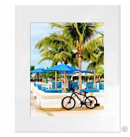 Maureen Terrien Photography Art Print Bike rack 11x14 - 8x10 Matted