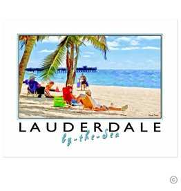 Maureen Terrien Photography Art Print Sunny Afternoon in Lauderdale by the Sea 11x14 Poster