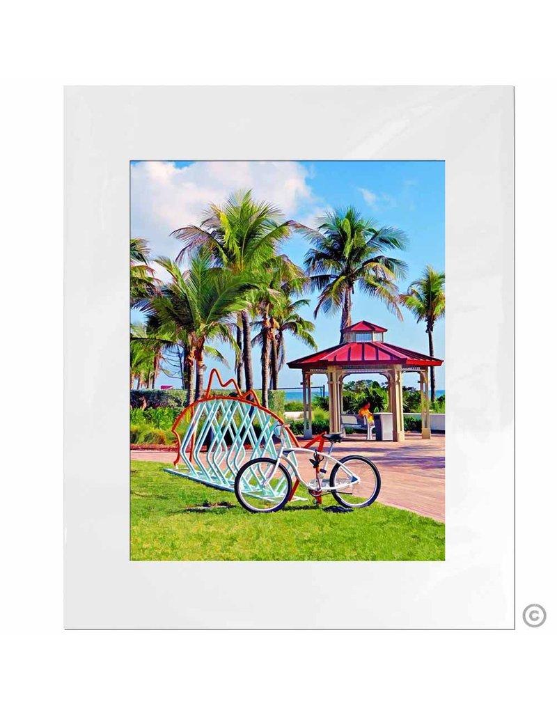 Maureen Terrien Photography Art Print Bike Rack 11x14 - 8x10 Matted