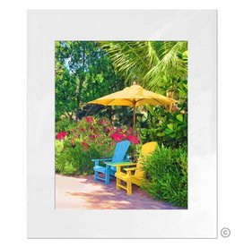 Maureen Terrien Photography Art Print Beach Chairs 11x14 - 8x10 Matted