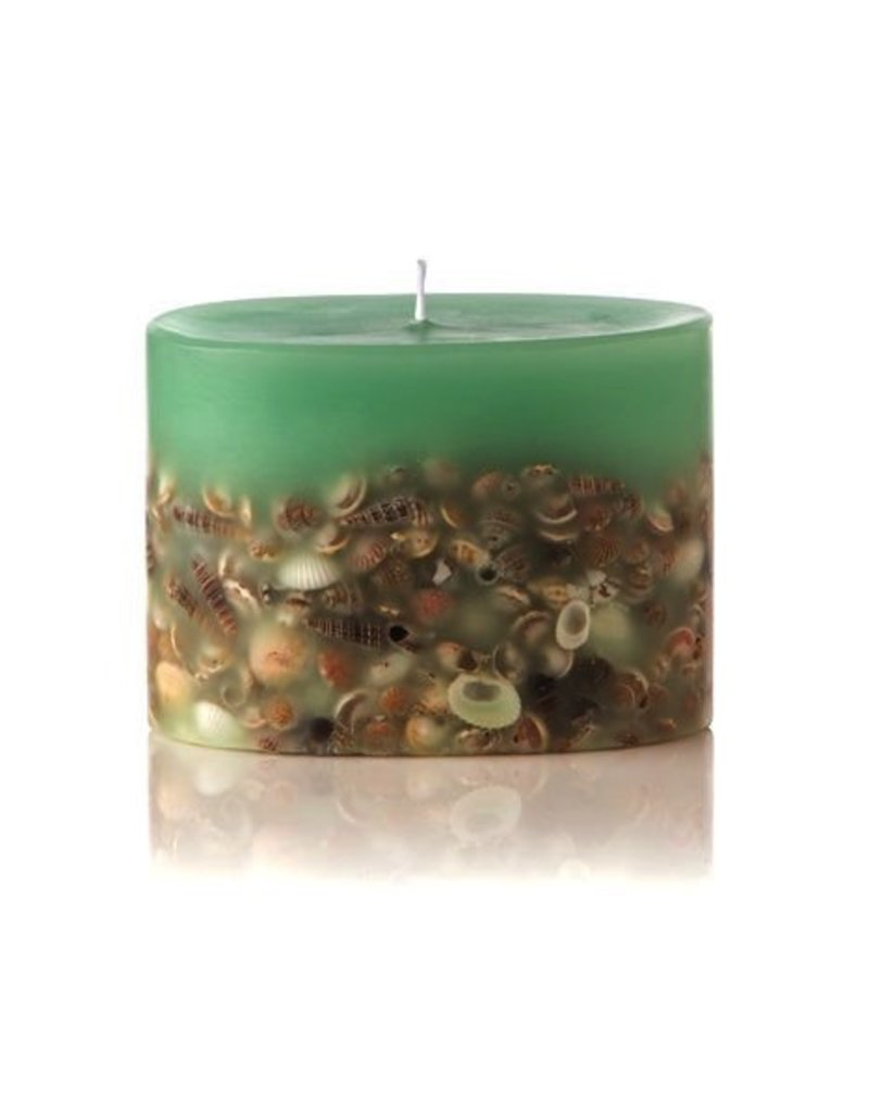 Rosy Rings Sea Glass Botanical Candle Petite Oval 4x3x3 | Rosy Rings