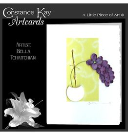 Constance Kay Art Card Purple Orchid by Constance Kay Art Cards
