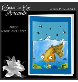 Constance Kay Art Card Gold Fish by Constance Kay Artcards