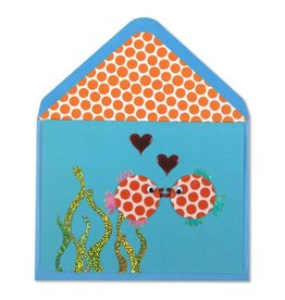 Papyrus Greetings Anniversary Card Fish Kissing by Papyrus