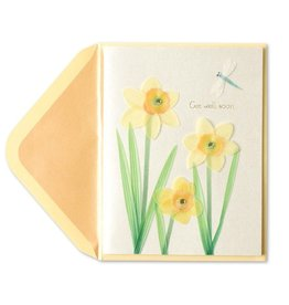 Papyrus Greetings Get Well Card Paper-Sculpted Daffodils